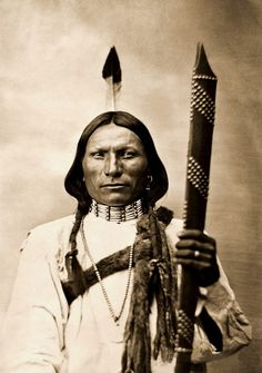 White Hawk, Cheyenne Brave. Photographed by L. A. Huffman, 1879.