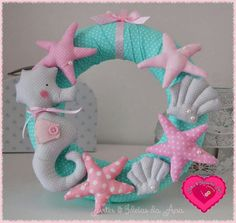 Wreath of Seahorse, Starfish, Shell