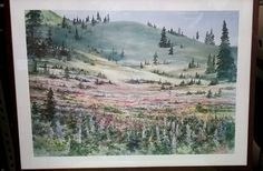 Ruth Basler Burr Lithograph (Signed Original) - Country Scene by AwesomeCEF on Etsy