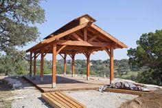 Timber Frame Pavilion  www.texastimberframes.com  https://www.facebook.com/pages/Texas-Timber-Frames/72503484999