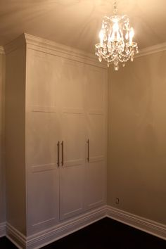 Creating a bedroom closet using IKEA pieces.Source: Roncesvalles Victorian Reno Diary