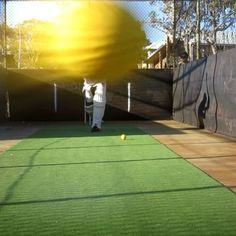 Death of a camera.... last frame before impact #cricket #cricketcoaching #scarborough #bollocks