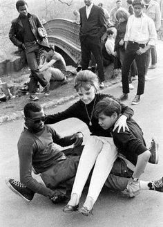 Skateboarders in Central Park 1950's