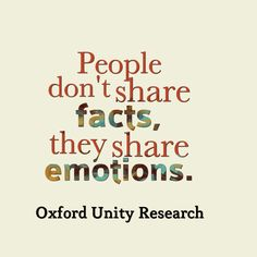 """""""People don't share facts, they share emotions."""" #marketing #quotes #Kreatepop"""