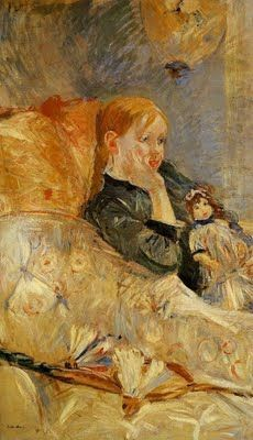 Little Girl with a Doll, 1886 - Berthe Morisot (French, Impressionism Pierre Auguste Renoir, Edouard Manet, French Impressionist Painters, Impressionist Artists, Mary Cassatt, Berthe Morisot, Camille Pissarro, Beautiful Paintings, Oeuvre D'art