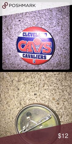 Vintage Cleveland Cavaliers CAVS button pin Vintage condition from the 90s. Great for the cavs fan in your life. Tags ~ basketball Cleveland cavs cavaliers pin broach brooches .  From my personal collection. Vintage Jewelry Brooches
