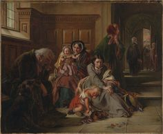 Waiting for the Verdict; Abraham Solomon (British, 1824 - 1862); England; 1859; Oil on canvas; 63.5 x 88.9 cm (25 x 35 in.); 2008.79.1; Gift of Barbara and Norman S. Namerow