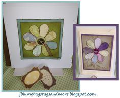 J Blume Bags, Tags & More: Flower cards using heart punch for petals