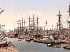 Docks and shipping, Hamburg, Germany between 1890 and 1900