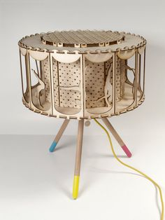 DIY Gift Idea Circus Lamp for Child Room por SmagaProjektanci
