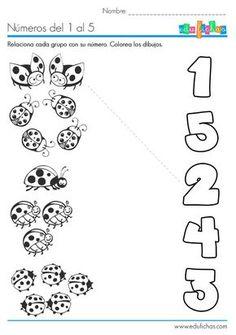 Resultado de imagen de fichas educativas de insectos infantiles para imprimir