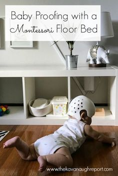 When using a Montessori floor bed it is important that the room is safe. Baby proofing can be important for keeping an infant safe and providing peace of mind.