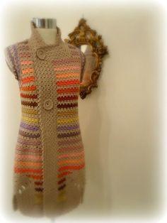 Mis Pasatiempos Amo el Crochet: Crochet chaleco largo DAR CLIC PARA VER PATRÓN