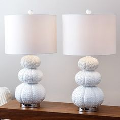 Shop for Abbyson Stacked Sea Urchin Lamp (Set of 2). Get free delivery at Overstock.com - Your Online Home Decor Shop! Get 5% in rewards with Club O!