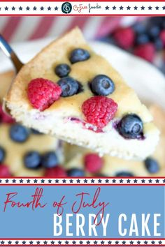 This Berry Buttermilk Cake is the perfect dessert all summer long – not just on red, white & blue holidays. Yes, I make it on Memorial Day and 4th of July, but I also make it to take to backyard BBQs and parties too! #gfreefoodie #redwhiteandblue #july4 #dessert Party Recipes, Summer Recipes, Cake Recipes, Dessert Recipes, Fourth Of July Drinks, July 4th, Buttermilk Cake Recipe, Delicious Desserts, Yummy Food