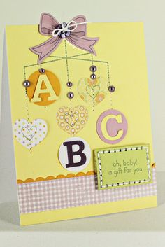 Baby Face Mobile Card by Erin Lincoln for Papertrey Ink (April 2012)