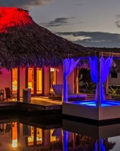 Spacious Lake Villas overlook the resort's tranquil saltwater lake. #Jetsetter    El Secreto, Ambergris Caye, Belize