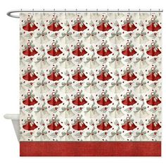 Christmas Holiday Bells Shower Curtain D6