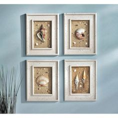 Bathroom wall art decor seashell bathroom wall decor bathroom decoration using decorative rectangular white wood nautical Seashell Bathroom Decor, Seashell Crafts, Diy Bathroom Decor, Bathroom Wall Decor, Diy Wall Decor, Crafts With Seashells, Beach Crafts, Master Bathroom, Art Decor