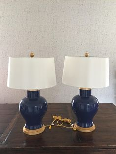 Blue Cleo Table Lamp