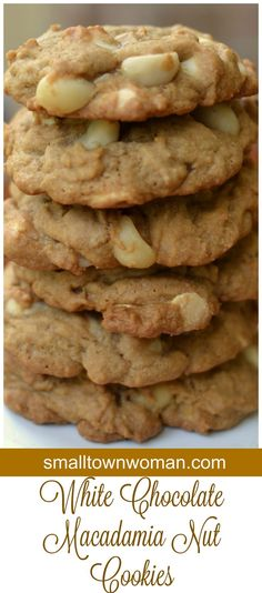 These White Chocolate Macadamia Nut Cookies are a cinch to make The macadamia nuts add just the right crunch and natural salty flavor. White Chocolate Macadamia, White Chocolate Cookies, Great Desserts, Dessert Recipes, Dessert Bars, Macadamia Nut Cookies, Cookie Crumbs, Easy Cookie Recipes, Dessert For Dinner