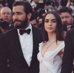 actor, jake gyllenhaal, and lily collins image