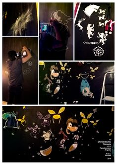 Rayman–Playroom Wall Art. #rayman #wallart #graffiti #playroom #nintendo #gameofthrones #spray