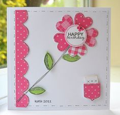 Heart flower...(Note: use idea for Valentine's Day card)... Kath's Blog......diary of the everyday life of a crafter: Fruit Scoop