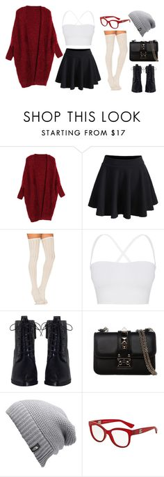 """Untitled #21"" by crimsonhelldemon ❤ liked on Polyvore featuring WithChic, Free People, Theory, Zimmermann, Valentino, The North Face and Dolce&Gabbana"