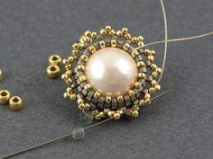 Seed Bead Tutorial - step by step flower & tassel earrings