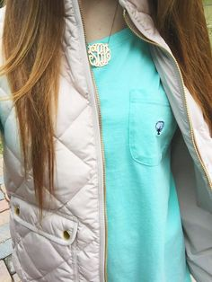 southern shirt company and monogram necklace