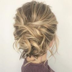 Messy Updo for Bob Length Hair