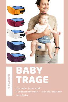 Sicherer Halt für dein Baby mit der Kindertrage   Sicherer Halt: Genieße die Körpernähe deines Babys, entlaste deine Arme sowie deinen Rücken und schütze deinen Nachwuchs sicher.  Einfach in der Anwendung: Lege die Babytrage einfach um deine Hüfte und befestige sie mit den praktischen Klips für sicheren Halt.  Gut für dich: Neben dem sicheren Halt für dein Baby hast du den Vorteil, dass dein Rücken und deine Arme entlastet werden. Dadurch beugst du Rückenschmerzen vor. Babys, Gift, Simple, Kids, Ideas, Babies, Baby, Newborn Babies, Children