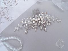 Bridal hair comb Wedding comb Pearl headpiece Pearls bridal