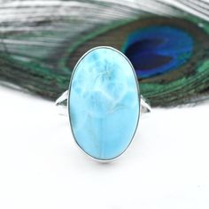 Larimar Rings, Larimar Jewelry, Labradorite Ring, Gemstone Rings, Silver Rings Handmade, Sterling Silver Rings, 925 Silver, Bridesmaid Rings, Bohemian Rings