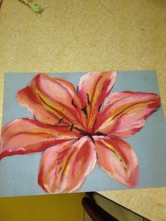 Oil pastel flower