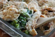 Chicken Divan, Lightened Up  Gina's Weight Watcher Recipes     Servings: 6 • Serving Size: 1/6th • Old Points: 7 pts • Points+: 8 pts  Calories: 335.7 • Fat: 12.3 g • Protein: 34.5 g • Carb: 19.8 g • Fiber: 4.1 g