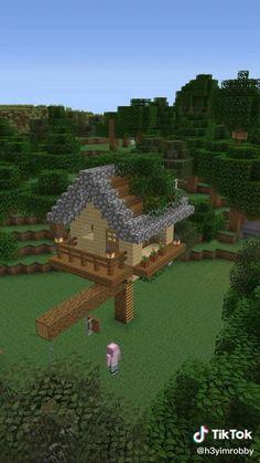 Minecraft House Plans, Minecraft House Tutorials, Minecraft Farm, Minecraft Mansion, Minecraft Cottage, Minecraft Houses Survival, Easy Minecraft Houses, Minecraft House Designs, Minecraft Decorations