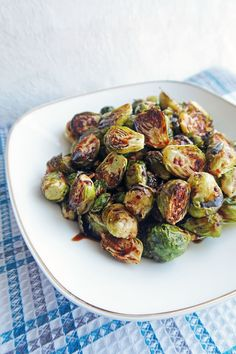 Roasted Brussels Sprouts With Balsamic Maple Glaze