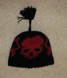 Skull Cap free #crochet #hat #pattern