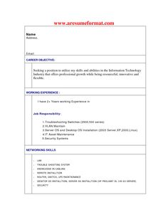 resume format for engineering students httpwwwresumecareerinfo