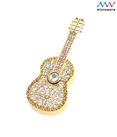 Microware Guitar Shape Golden Jewellery Designer Pen Drive 8 GB, http://www.snapdeal.com/product/MicrowareG/99373