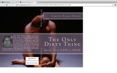 The working cover of my latest novel, sequel to Gani & Sean and tentatively entitled THE ONLY DIRTY THING.