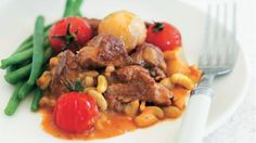 Lamb and flageolet bean stew