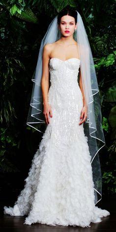 White Feather Wedding Dress #feather #wedding #dress www.loveitsomuch.com