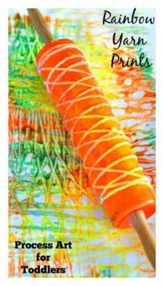 10 Yarn Crafts for Kids: Rainbow Yarn Prints