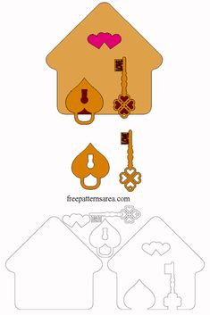 Keychain & Key Holder Laser Cut Wood Craft Ideas