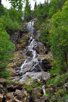 agawa canyon sault sainte marie canada waterfall 2, by queen of salvation