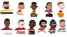 The Liverpool Starting Eleven Drawn in Different Cartoon Art Styles : LiverpoolFC Cartoon Art Styles, Cartoon Drawings, Phineas And Ferb, Futurama, Different, No Time For Me, Liverpool, Fashion Art, English Premier