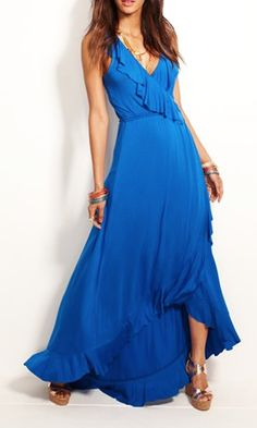 ruffled faux wrap dress  http://rstyle.me/n/ngna6pdpe